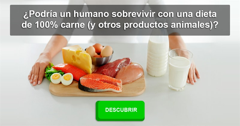 Sociedad Historia: ¿Podría un humano sobrevivir con una dieta de 100% carne (y otros productos animales)?
