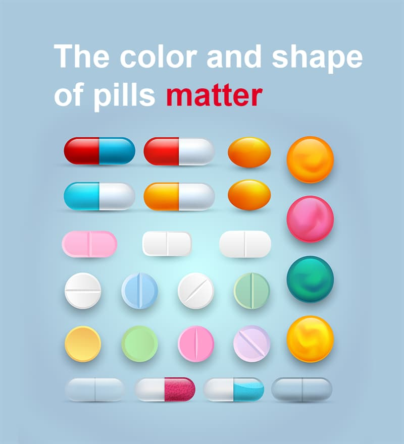 Science Story: The color and shape of pills matter
