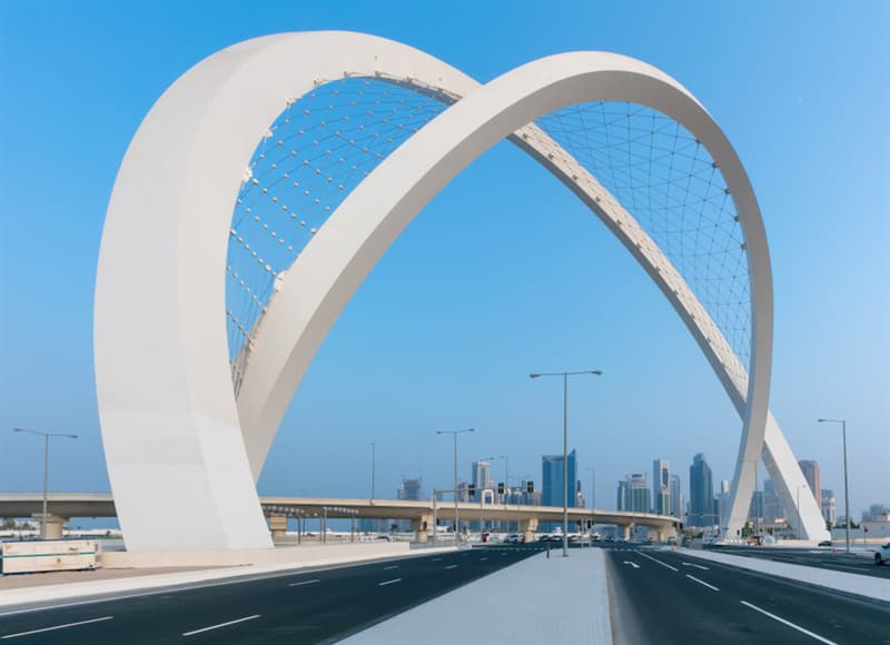 Geography Story: #10 Al Wahda Arches in West bay Area is the tallest monument in Qatar