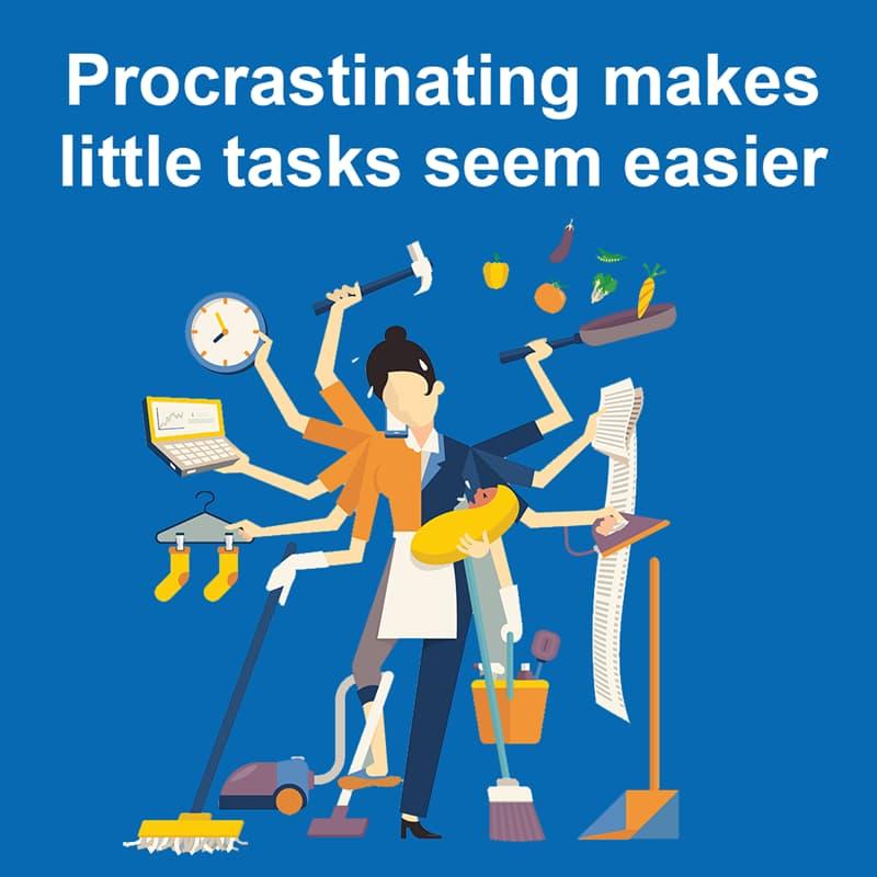 Science Story: Procrastinating makes little tasks seem easier
