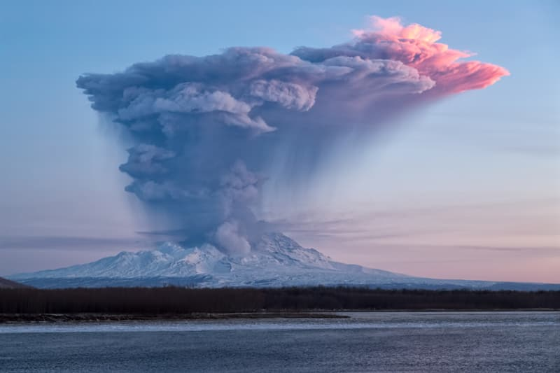 Geography Story: #9 Shiveluch is an active volcano in Kamchatka, Russia