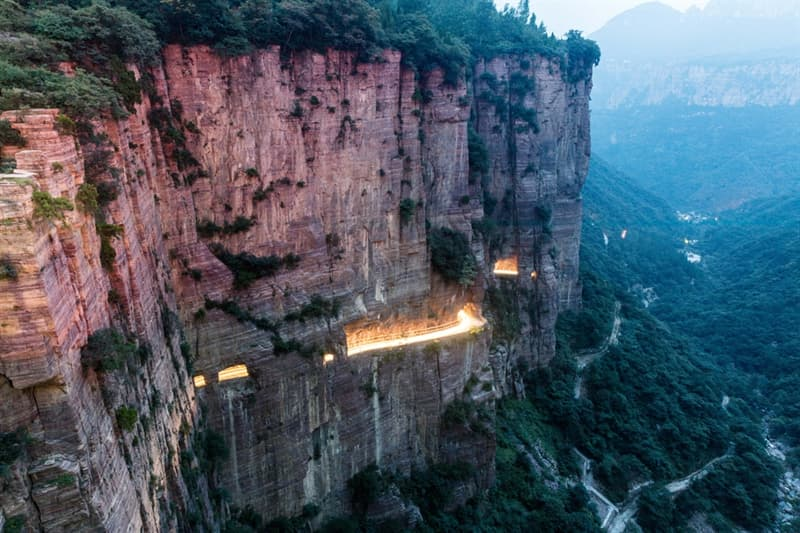 Geography Story: #3 Guoliang Tunnel in China was created for a better access to the village of Guoliang