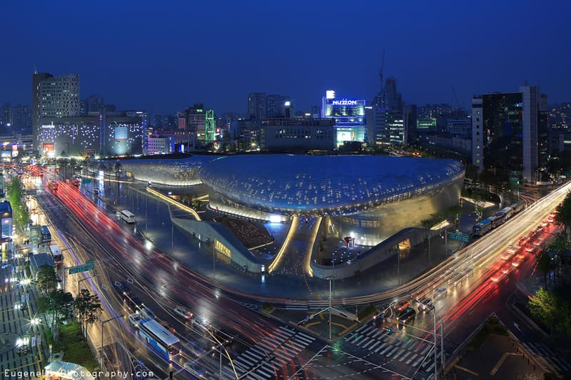 Culture Story: Dongdaemun Design Plaza at night, Seoul, Korea (2009-2014)