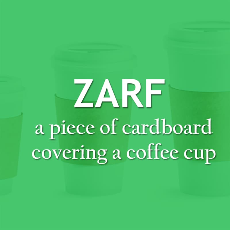 Culture Story: The piece of cardboard covering a coffee cup - Zarf