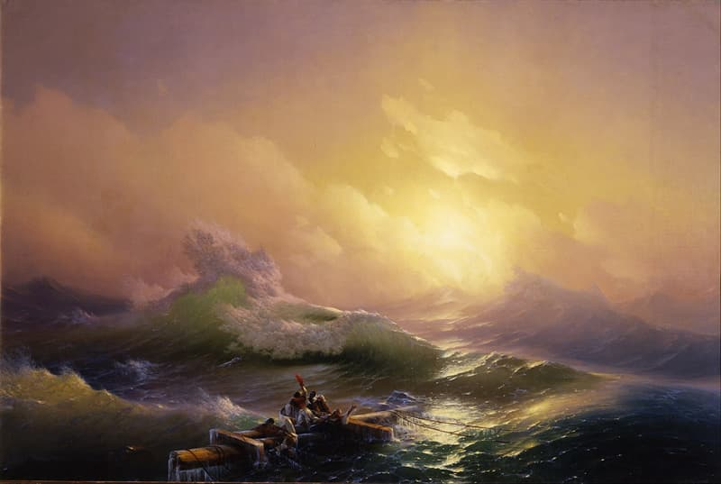"""Culture Story: #2 """"The Ninth Wave"""" by Ivan Aivazovsky"""