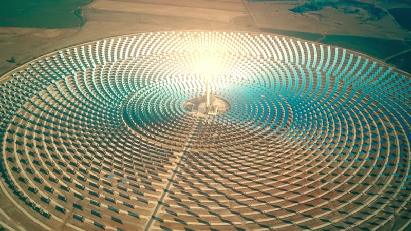 Geography Story: #13 Modern concentrated solar power plant