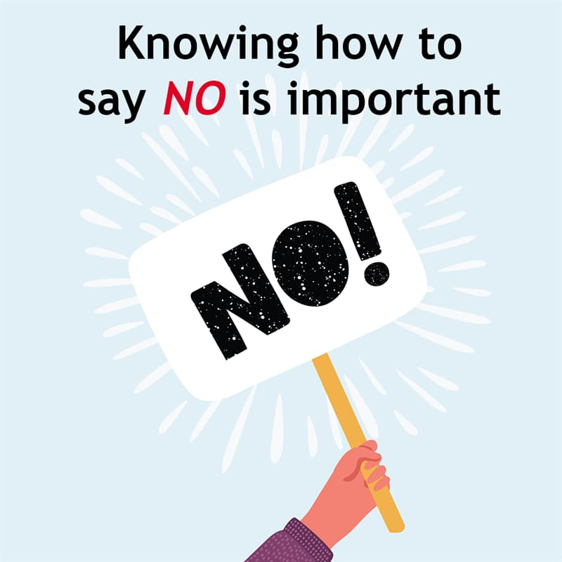 Society Story: Knowing how to say NO is important