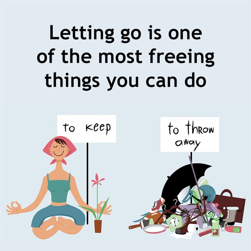 Society Story: Letting go of things is one of the most freeing things you can do