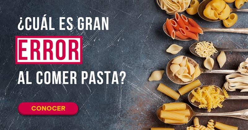 Cultura Historia: ¿Cuál es gran error al comer pasta?