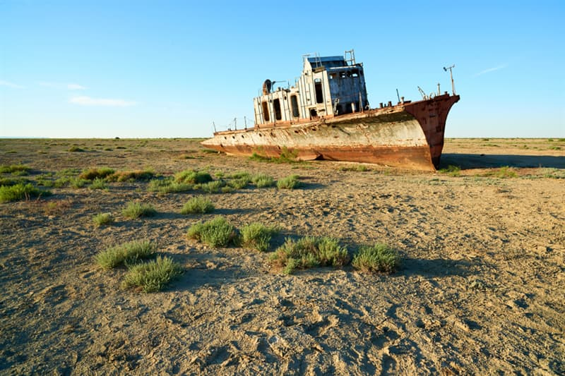 Geography Story: beautiful places to visit in Kazakhstan Abandoned Ships of Aral Sea