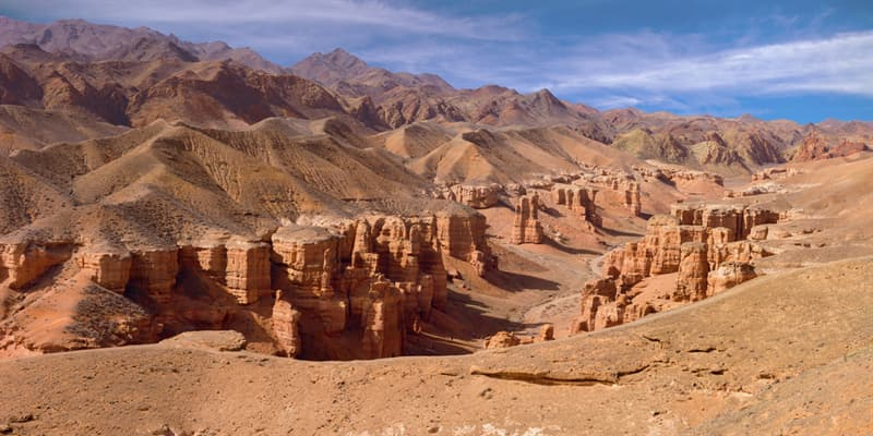 Geography Story: beautiful places to visit in Kazakhstan Charyn Canyon