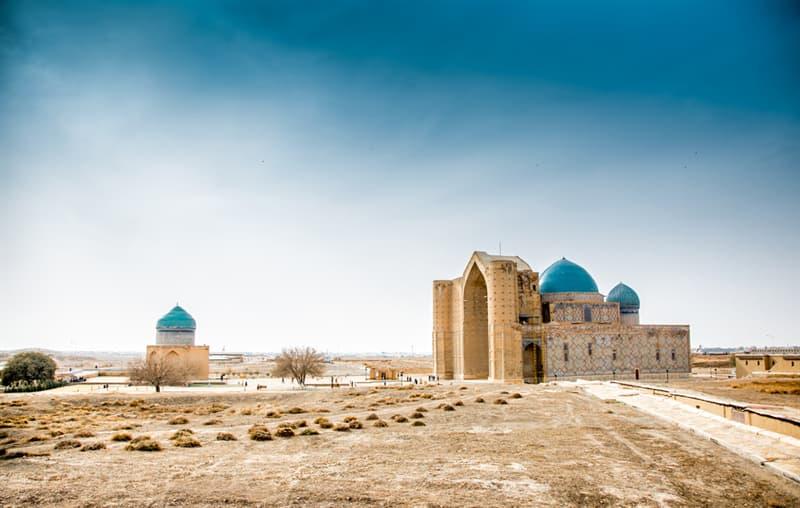 Geography Story: beautiful places to visit in Kazakhstan Mausoleum of Khoja Ahmed Yasavi