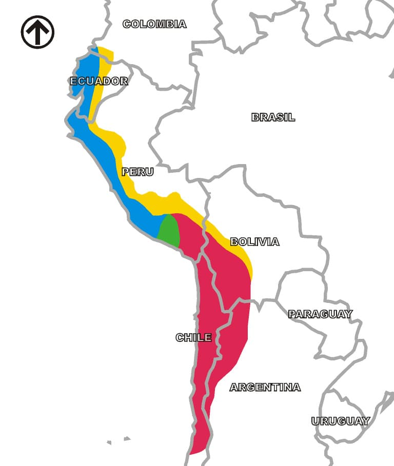 Culture Story: Here is where different Inca provinces were located (not all of them existed at the same time):