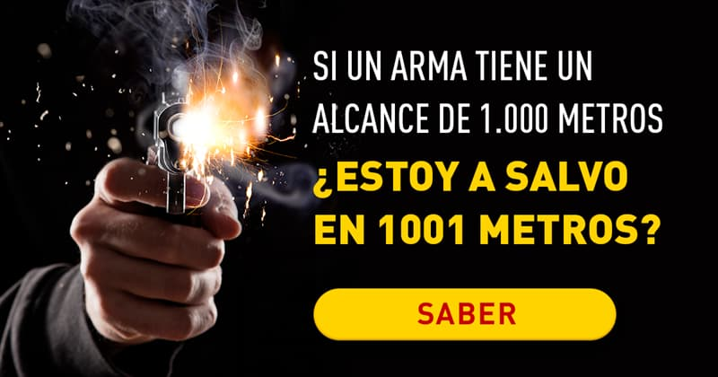 Сiencia Historia: Si se dispara en dirección mía un arma que tiene un alcance de 1.000 metros, y estoy parado a 1.001 metros del arma, ¿puedo ver la bala caer frente a mí?