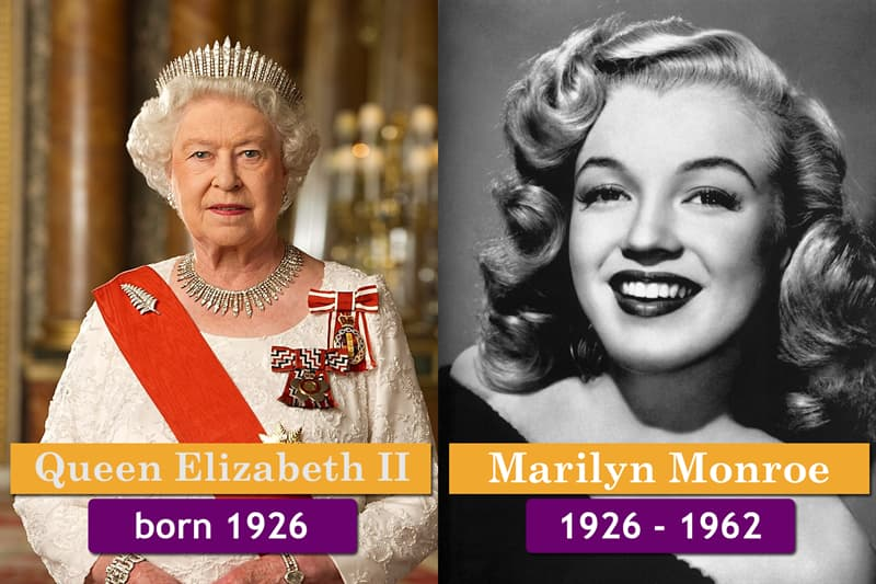 History Story: Unlikely historical contemporaries:  Queen Elizabeth II and was Marilyn Monroe