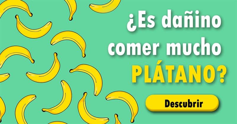 Сiencia Historia: ¿Es dañino comer mucho plátano?