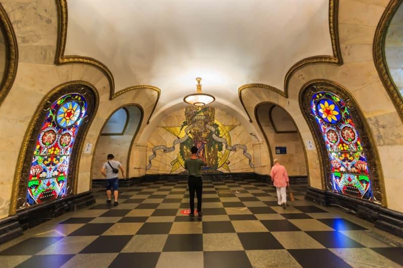 Geography Story: Saint Petersburg Metro deepest underground system deepest metro station Admiralteyskaya Russia culture tourism