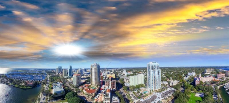 Geography Story: Saint Petersburg in the USA Florida Russia culture tourism