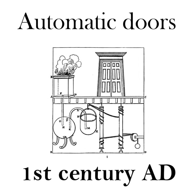 Culture Story: Things that are older than you think automatic doors