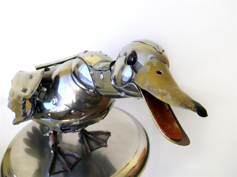 animals Story: artworks out of recycled materials - steampunk duck