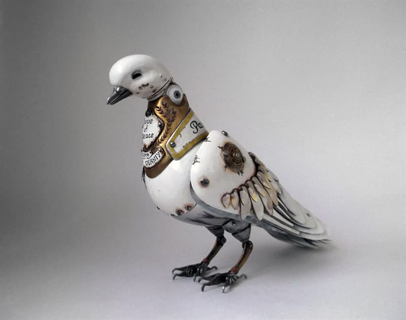animals Story: steampunk artwork -steampunk style - steampunk animal sculptures - Dove of Peace