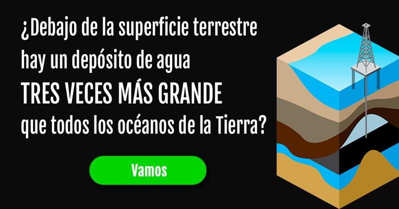 Geografía Historia: ¿Es cierto que muy por debajo de la superficie terrestre hay un depósito de agua tres veces superior al volumen de todos los océanos de la Tierra?