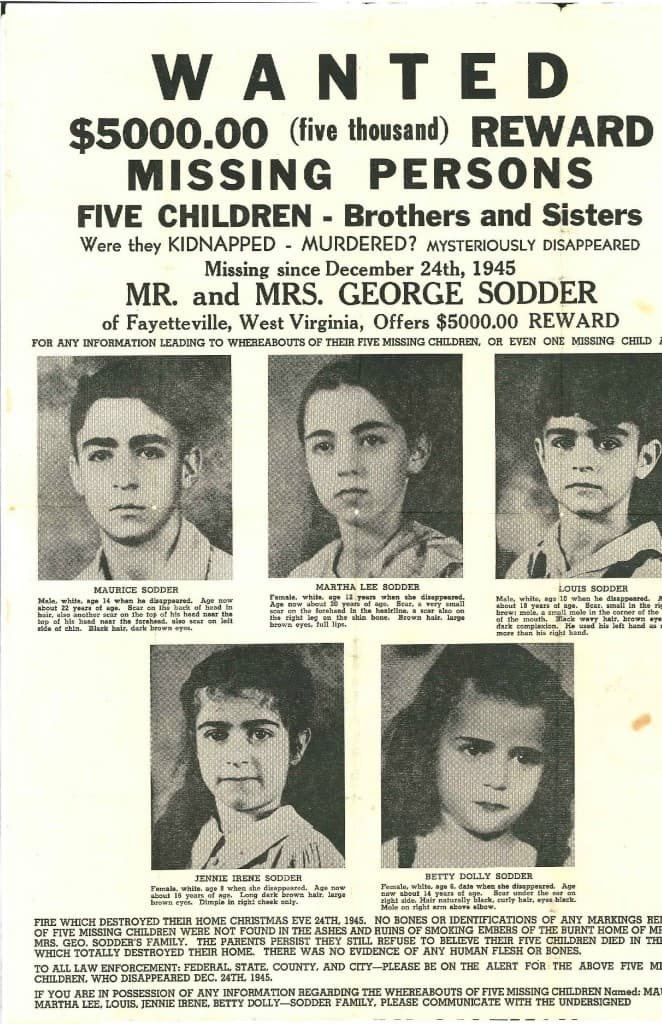 History Story: Sodder Children Disappearance 5 children disappeared West Virginia mysterious unsolved disappearances of all time