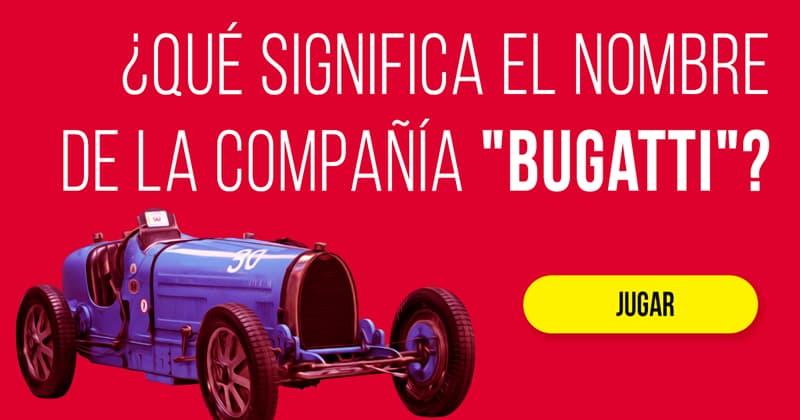"""Historia Historia: ¿Qué significa el nombre de la compañía """"Bugatti""""?"""