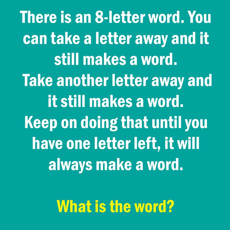 IQ Story: funny riddle 8-letter word