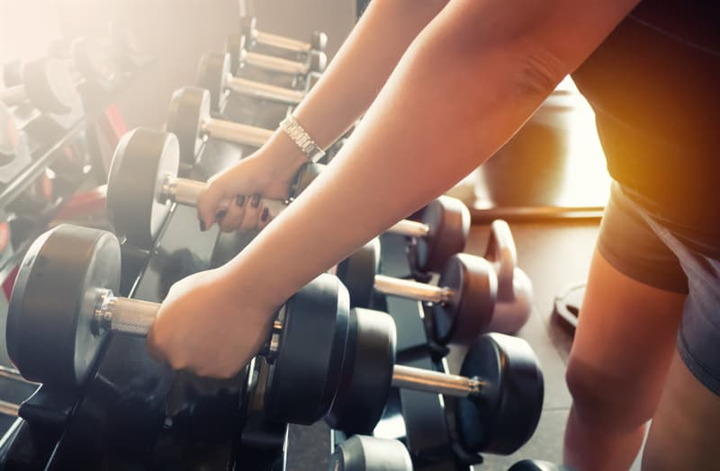 Society Story: Gym equipment - gym bacteria - free weights bacteria