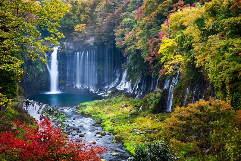 Geography Story: Shiraito Falls, Japan facts about waterfalls most beautiful waterfalls in the world