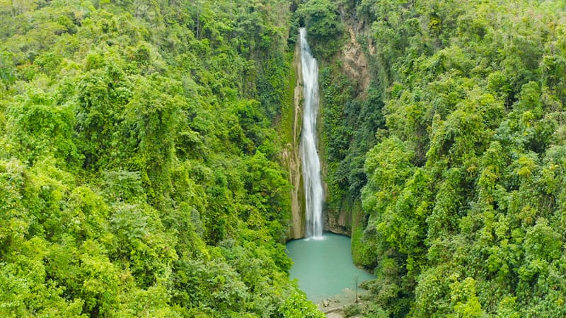 Geography Story: Mantayupan Falls, Philippines facts about waterfalls most beautiful waterfalls in the world