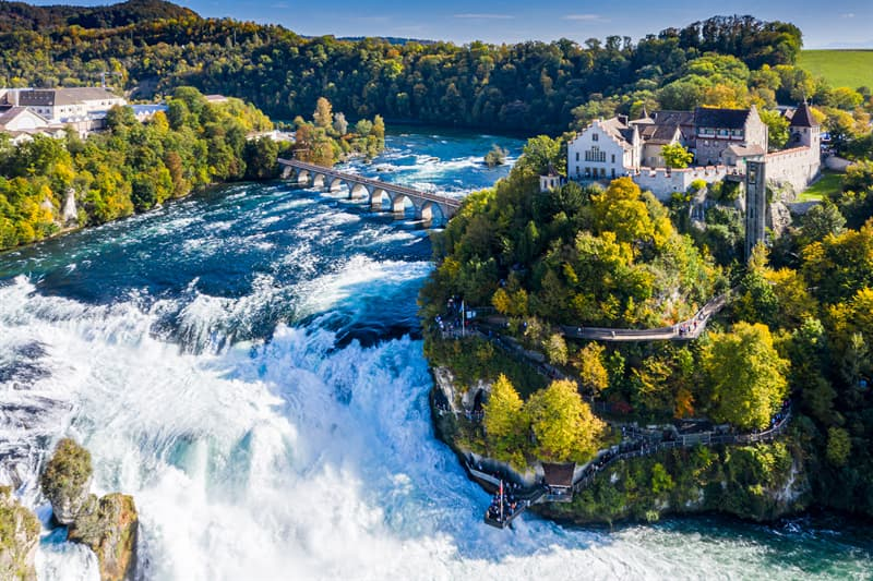 Geography Story: Rhine Falls, Switzerland facts about waterfalls most beautiful waterfalls in the world