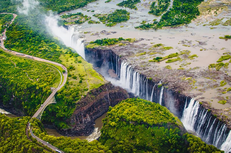 Geography Story: Victoria Falls, Zambia and Zimbabwe facts about waterfalls most beautiful waterfalls in the world