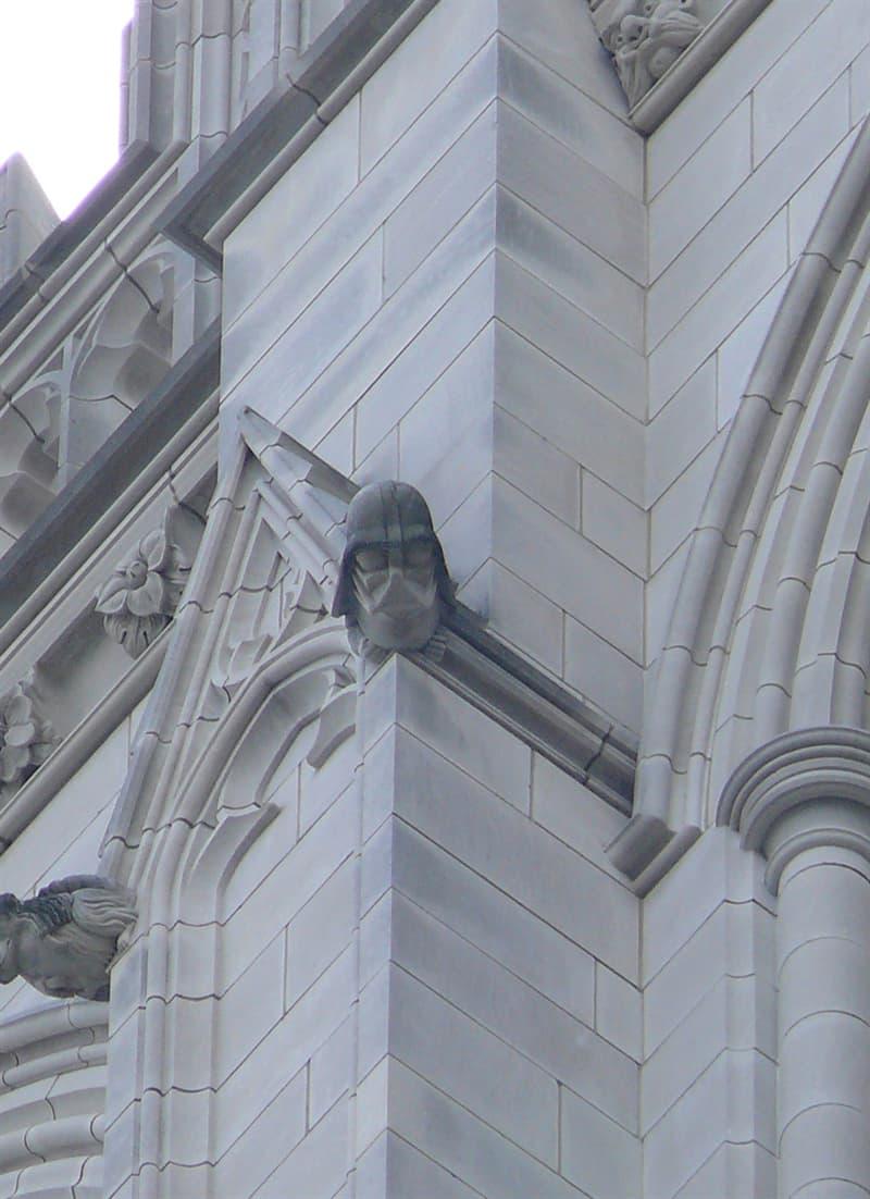 Society Story: Darth Vader grotesque - Washington National Cathedral's tower