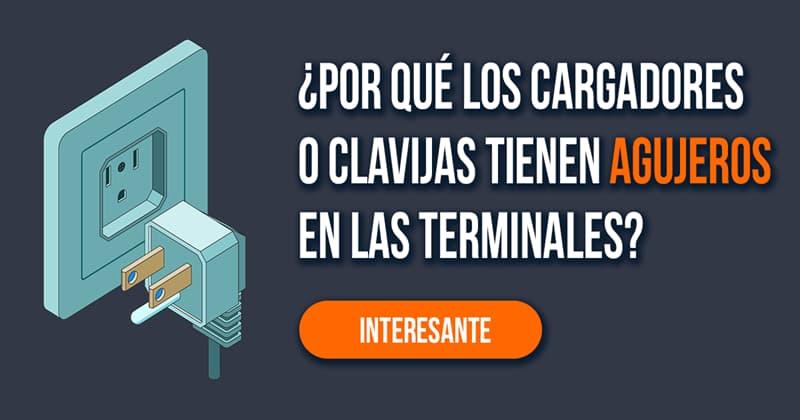 Сiencia Historia: ¿Por qué los cargadores o clavijas tienen agujeros en las terminales?