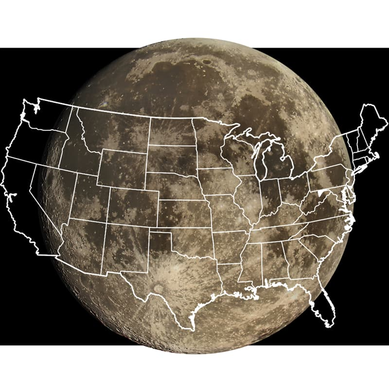 Culture Story: cool comparison pictures side by side comparison photos interesting comparison topics how big is the moon compared to earth moon compared to us moon compared to usa