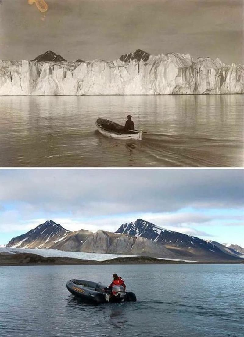 Culture Story: cool comparison pictures side by side comparison photos interesting comparison topics arctic 100 years ago and now arctic climate change 2019 arctic climate change 2020 arctic melting 2020 arctic sea ice decline the arctic 100 years ago and today
