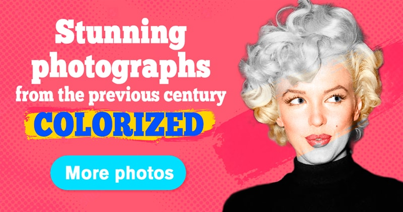 History Story: 20 colorized pictures of the most beautiful women from the 20th century