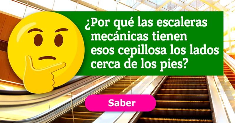 Sociedad Historia: ¿Por qué las escaleras mecánicas tienen esos cepillos a los lados cerca de los pies?