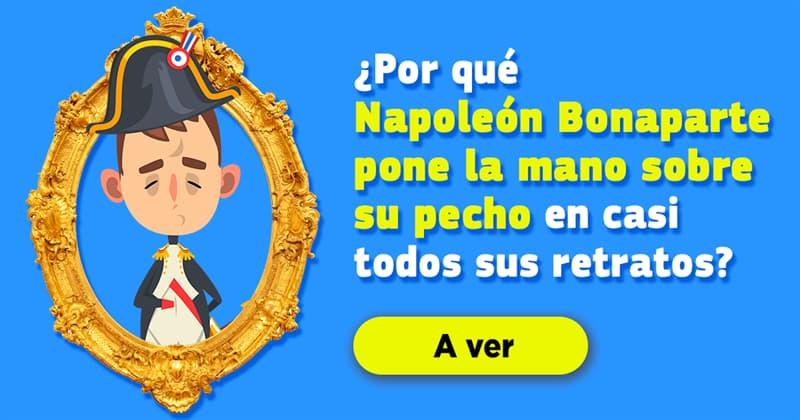 Cultura Historia: ¿Por qué Napoleón Bonaparte pone la mano sobre su pecho en casi todos sus retratos?