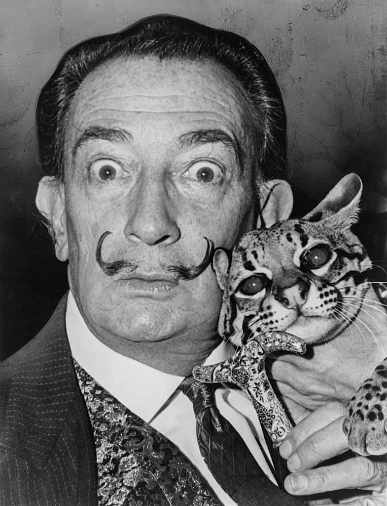 Society Story: Salvador Dali famous artists  weird habits unusual pets