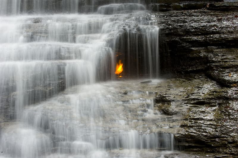 Geography Story: #5 Eternal Flame Falls