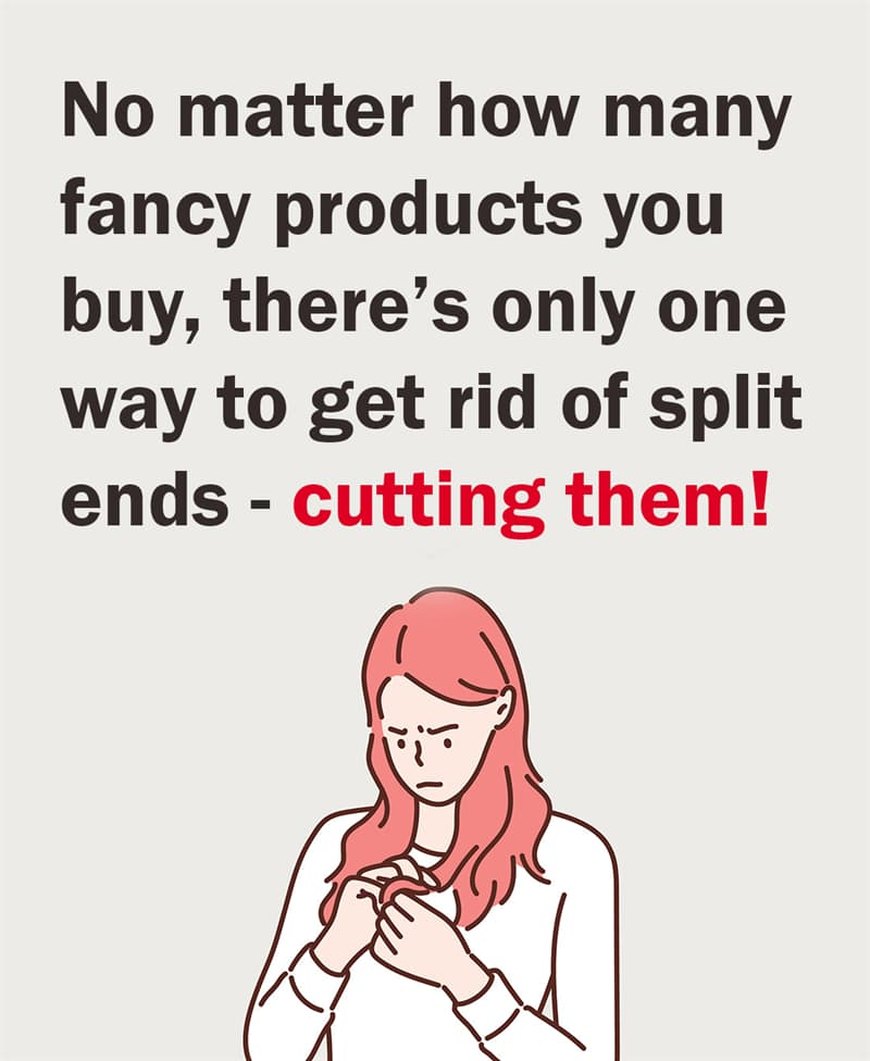 Science Story: No matter how many fancy products you buy, there's only one way to get rid of split ends. Cutting them!