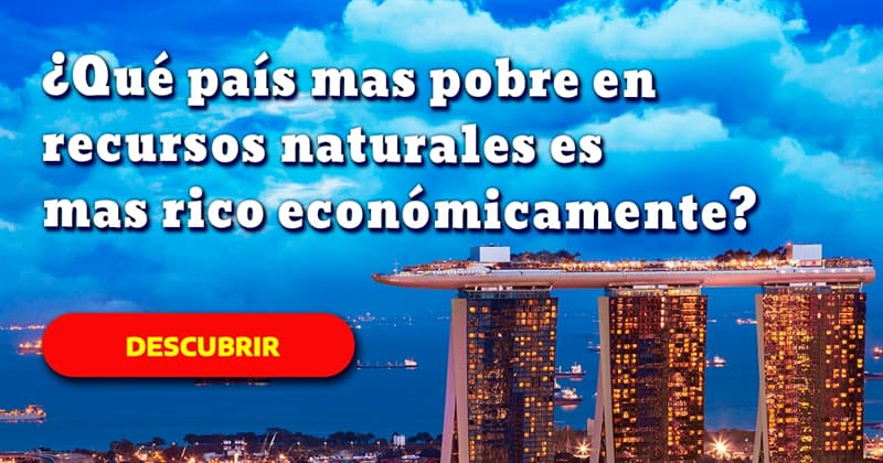Geografía Historia: ¿Qué país mas pobre en recursos naturales es mas rico económicamente?