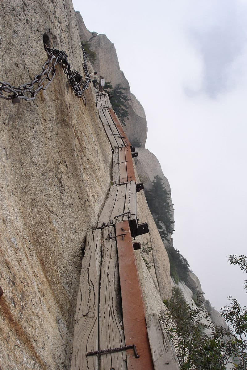 Geography Story: #3 China's deadly Mount Hua's hiking trail