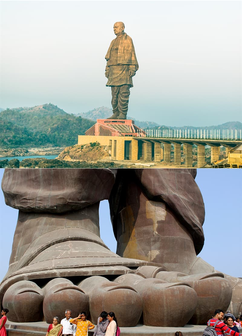 Culture Story: #1 Even the top of your head may not be taller than the feet of the world's tallest statue.