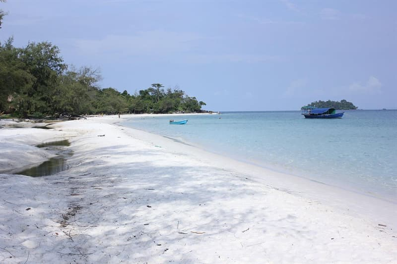 Geography Story: #1 Incredible white beach sands of the Koh Rong Island in Cambodia.