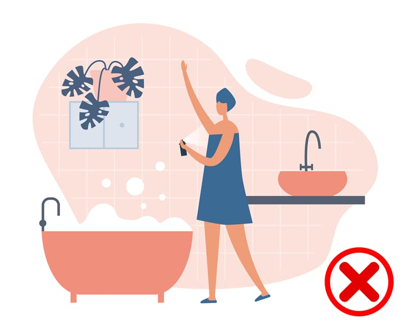 Science Story: #5 Applying deodorant immediately after showering