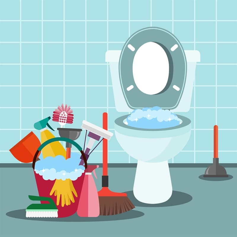 Science Story: #6 Cleaning the bathroom at regular temperature